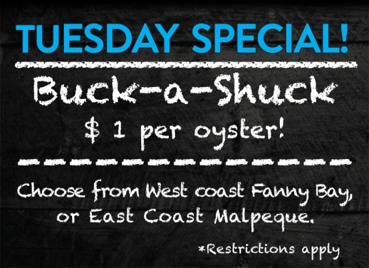Tuesday Special! Buck-a-Shuck
